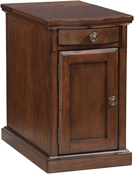 Signature Design By Ashley Laflorn Chairside End Table With Usb Ports Outlets Medium Brown Furniture Decor