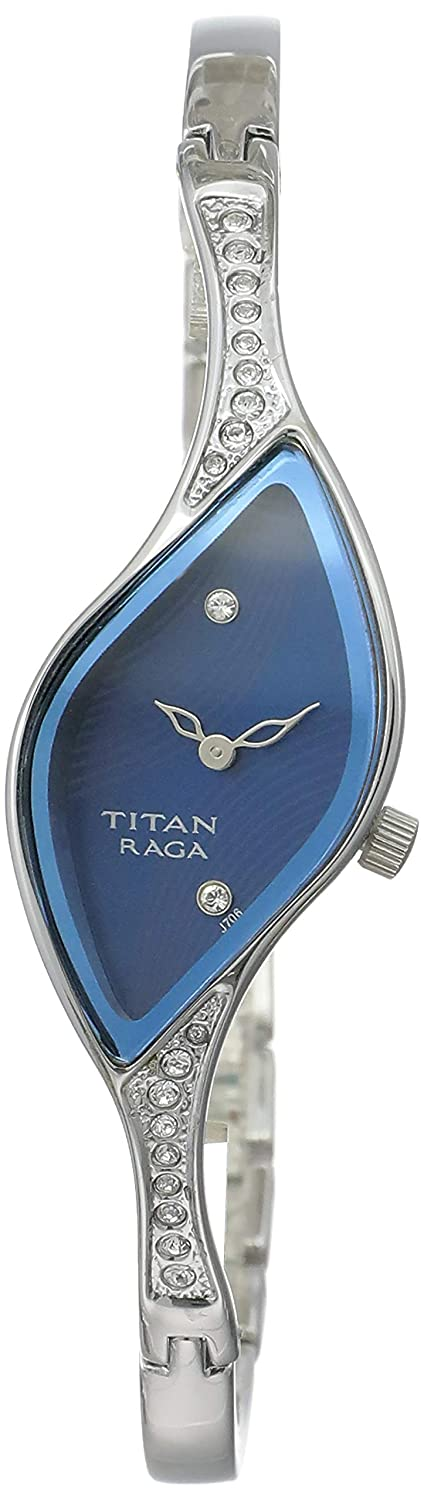 Titan analog Blue Dial Women's Watch - 9710SM01