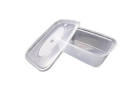 50 x 650 ml microondas envases de plástico resistente con tapa ...