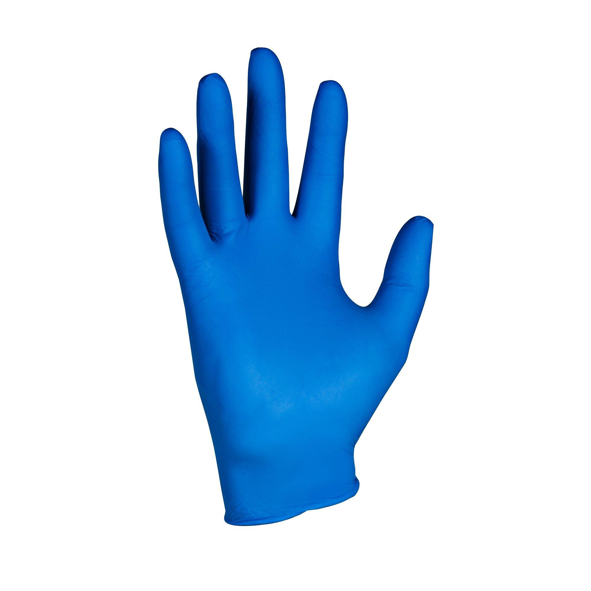 Kimberly-Clark KleenGuard G10 Nitrile Arctic Glove, Powder Free, 9-1/2'' Length, Large, Blue (Case of 2000)