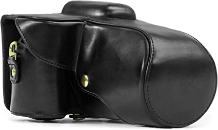 MegaGear Ever Ready Black Leather Camera Case for New Nikon D5200 Cameras with 18 55mm VR Lens Cases   Bags