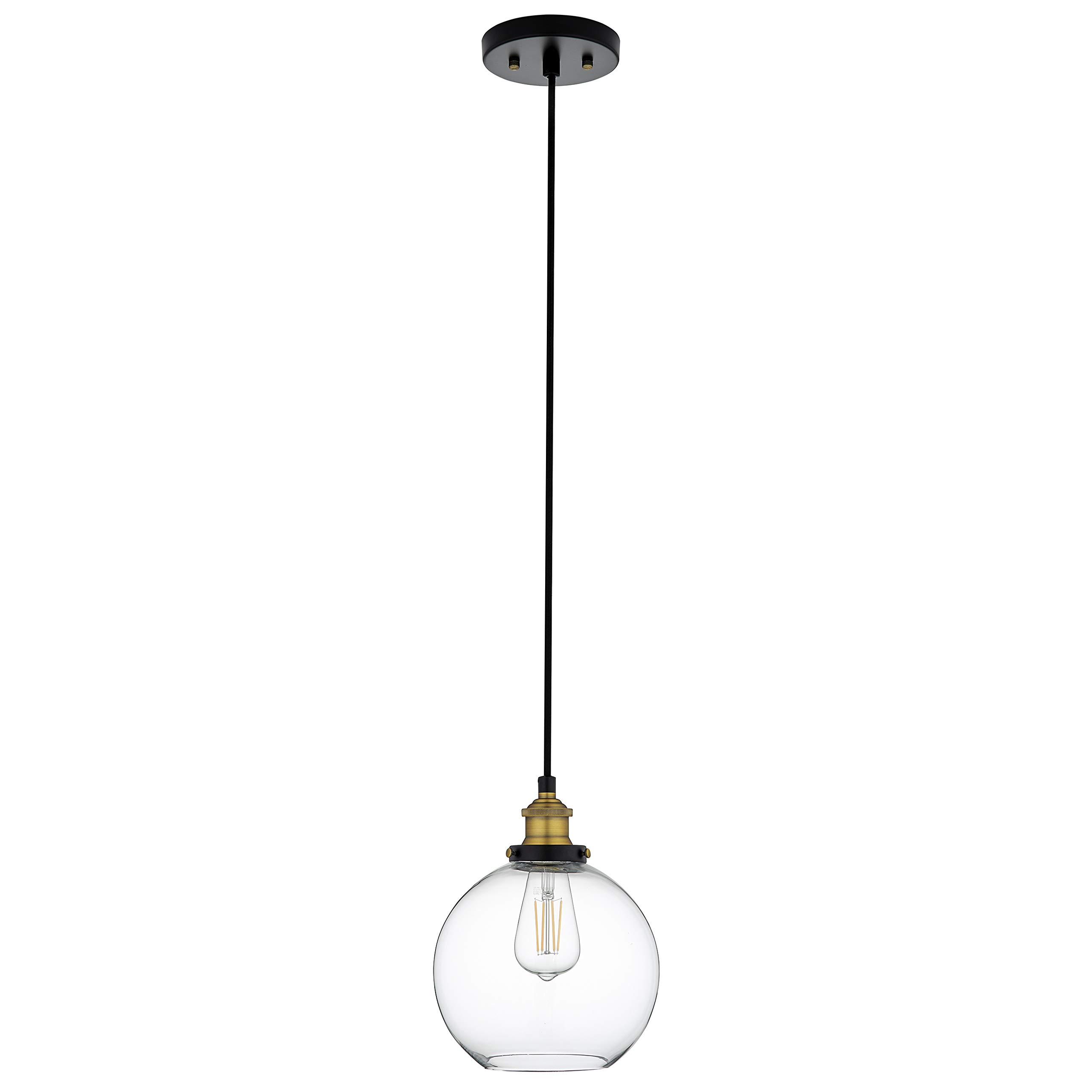Primo Industrial Kitchen Pendant Light - Antique Brass Hanging Fixture - Linea di Liara LL-P429-AB by Linea di Liara (Image #8)