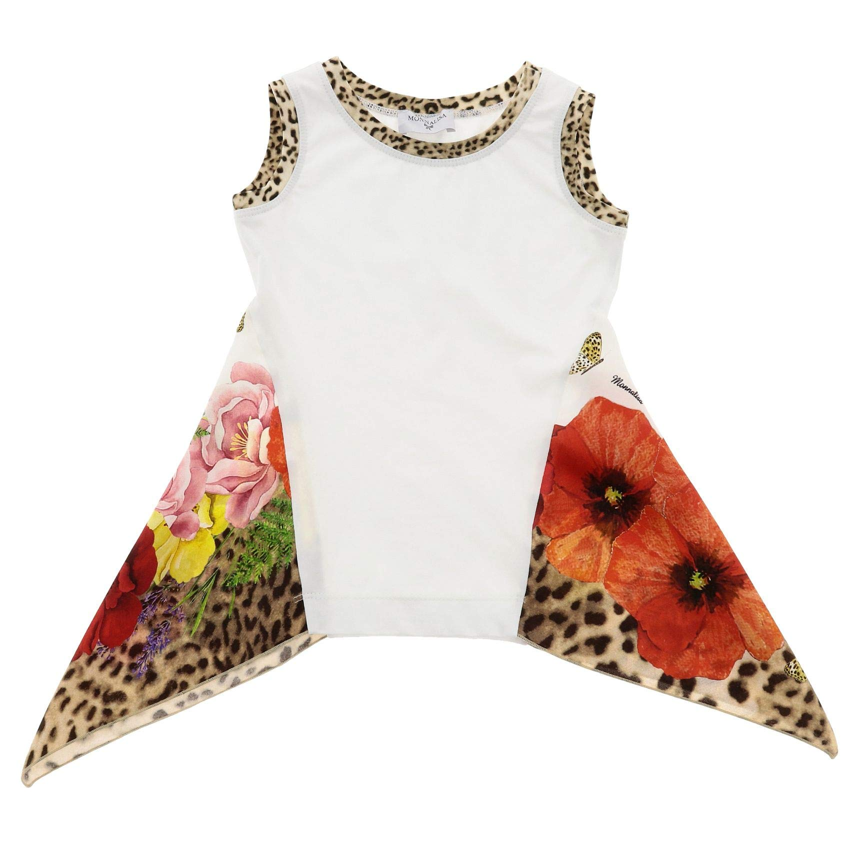 Monnalisa Girls 11363432019980 White Cotton Tank Top by Monnalisa (Image #1)