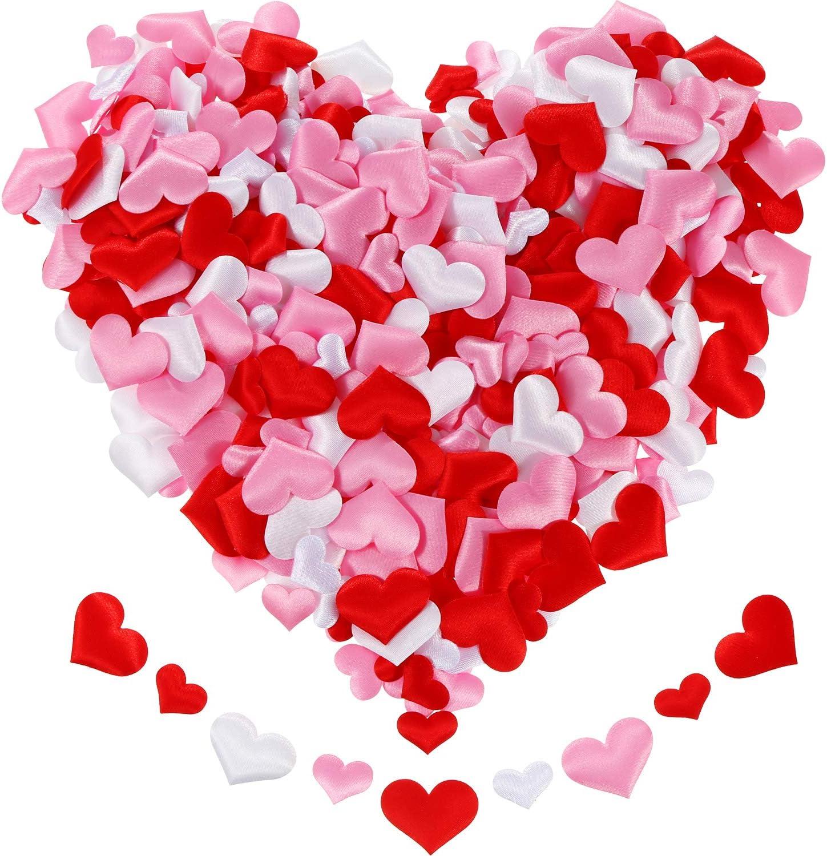 Amazon Com Tatuo 600 Pieces Valentine Confetti Fabric Heart Confetti Sponge Table Scatter For Wedding Valentine S Day Favors 3 Colors In 2 Sizes Toys Games