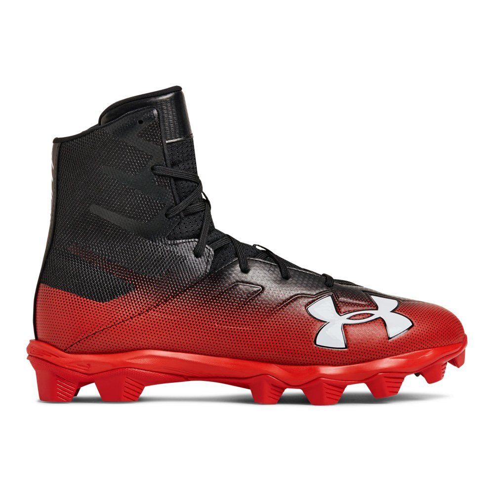 Under Armour Men's Highlight RM Football Shoe, Black (002)/Red, 10 by Under Armour