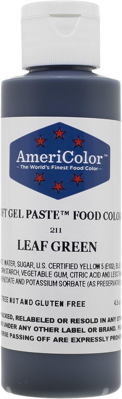 Americolor Soft Gel Paste Food Color, 4.5-Ounce, Leaf Green