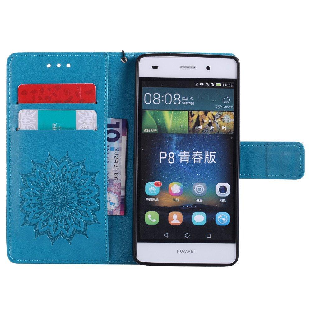 COTDINFOR Huawei P8 Lite Custodia Premium PU Leather Mandala Fiore ...