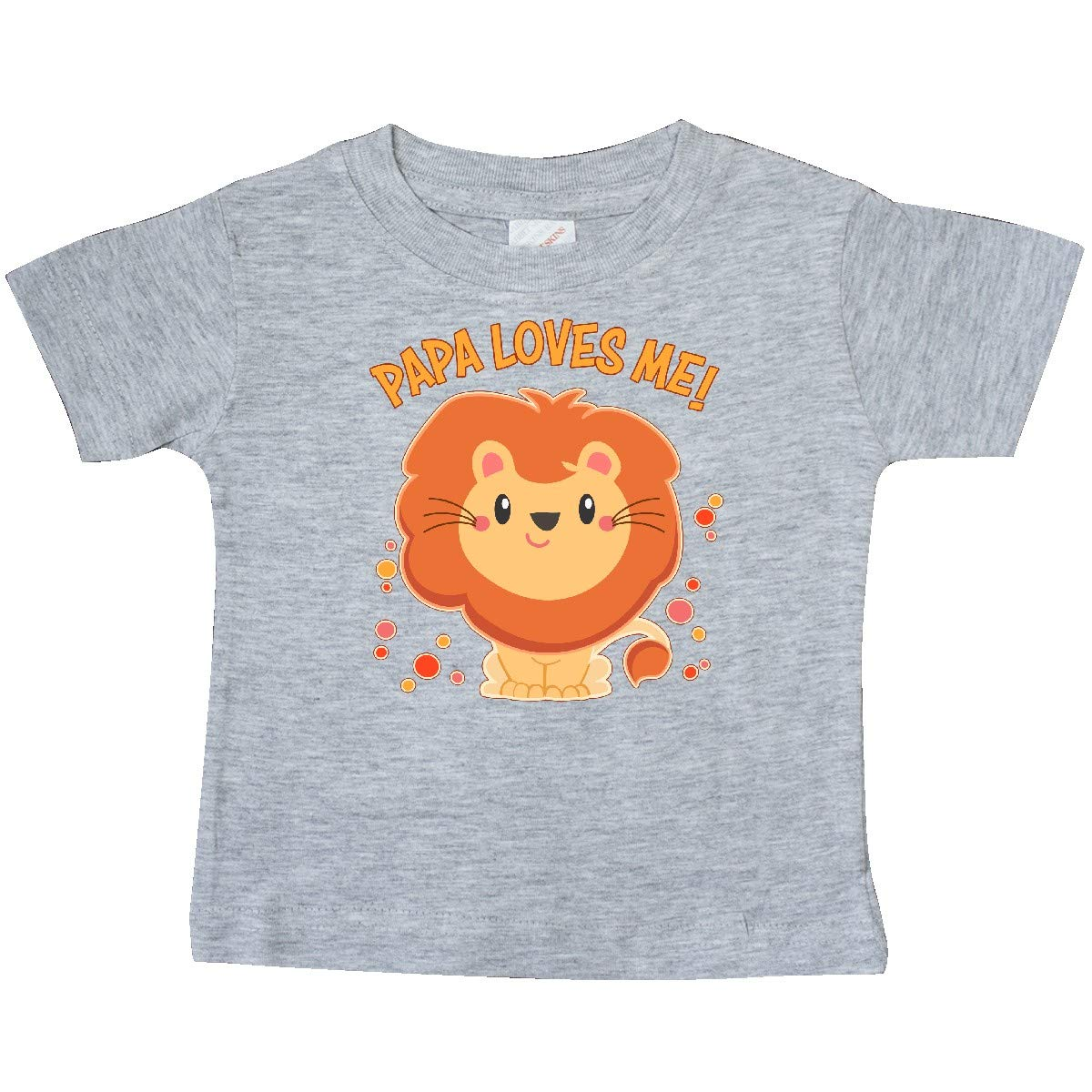 Cute Lion Baby T-Shirt inktastic Papa Loves Me