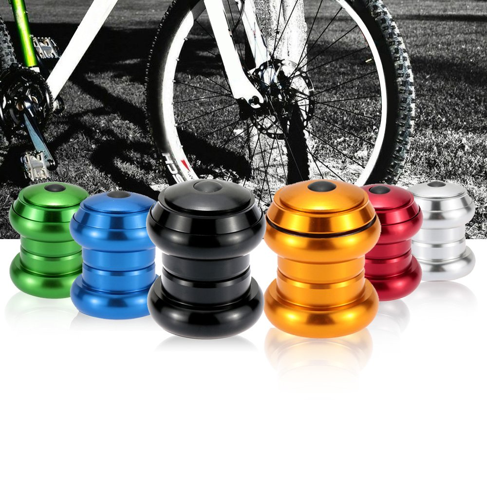 "1-1//8/"" 34mm Mountain Road Bike CNC Threadless External Headset Silver Black"