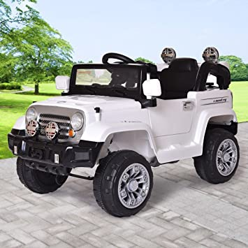 jaxpety 12v jeep style kids ride on truck battery powered electric car wremote control