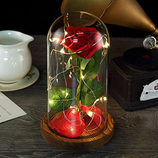 Disney Beauty and The Beast Enchanted Rose USB Mood Light Lamp LED