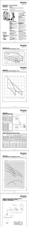 "Lowara SCUBA Pompe Immergees 5/"" SC207CG L27 0,75 kW 1,1 HP 1x220-240V 50Hz"