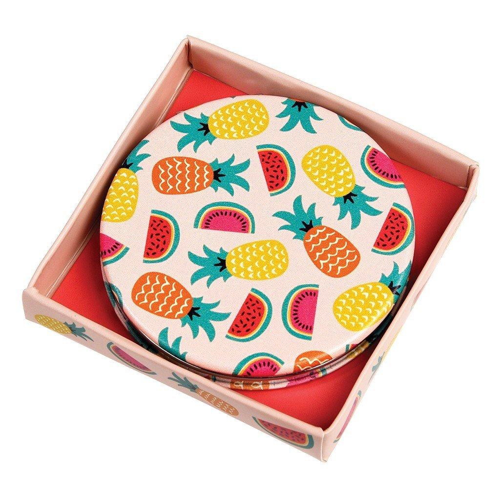Round Compact Mirror - Choice Of Design (Tropical Fruit) Rex International Ltd