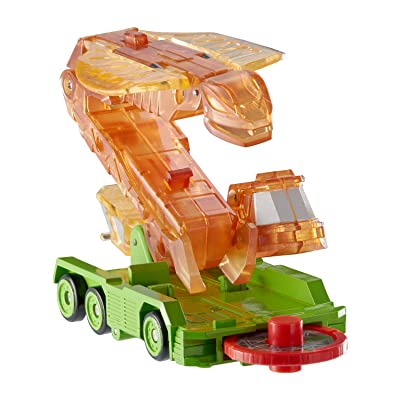 Screechers Wild US683221 Level 2 Fangster Flipping Morphing Toy Car Vehicle, 4'' x 2'', Orange: Toys & Games