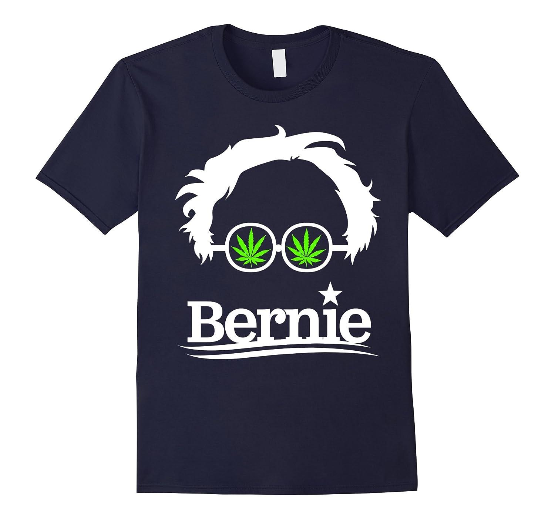 Bernie Sanders 2016 President Pot Marijuana Glasses T-Shirt-TH