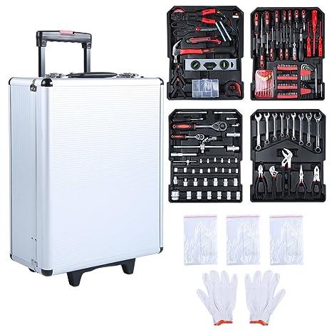 sweepid Juego de maletín de herramientas 729tlg Multi Caja de herramientas profesional maletín Toolbox bicicleta Reparación