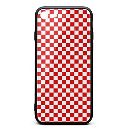 online store 7cdd5 7d92e Amazon.com: Red and White Checkered Phone Case for iPhone 6 Plus ...
