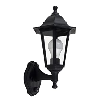 Traditional style black outdoor security dusk to dawn ip44 rated traditional style black outdoor security dusk to dawn ip44 rated wall light lantern aloadofball Gallery