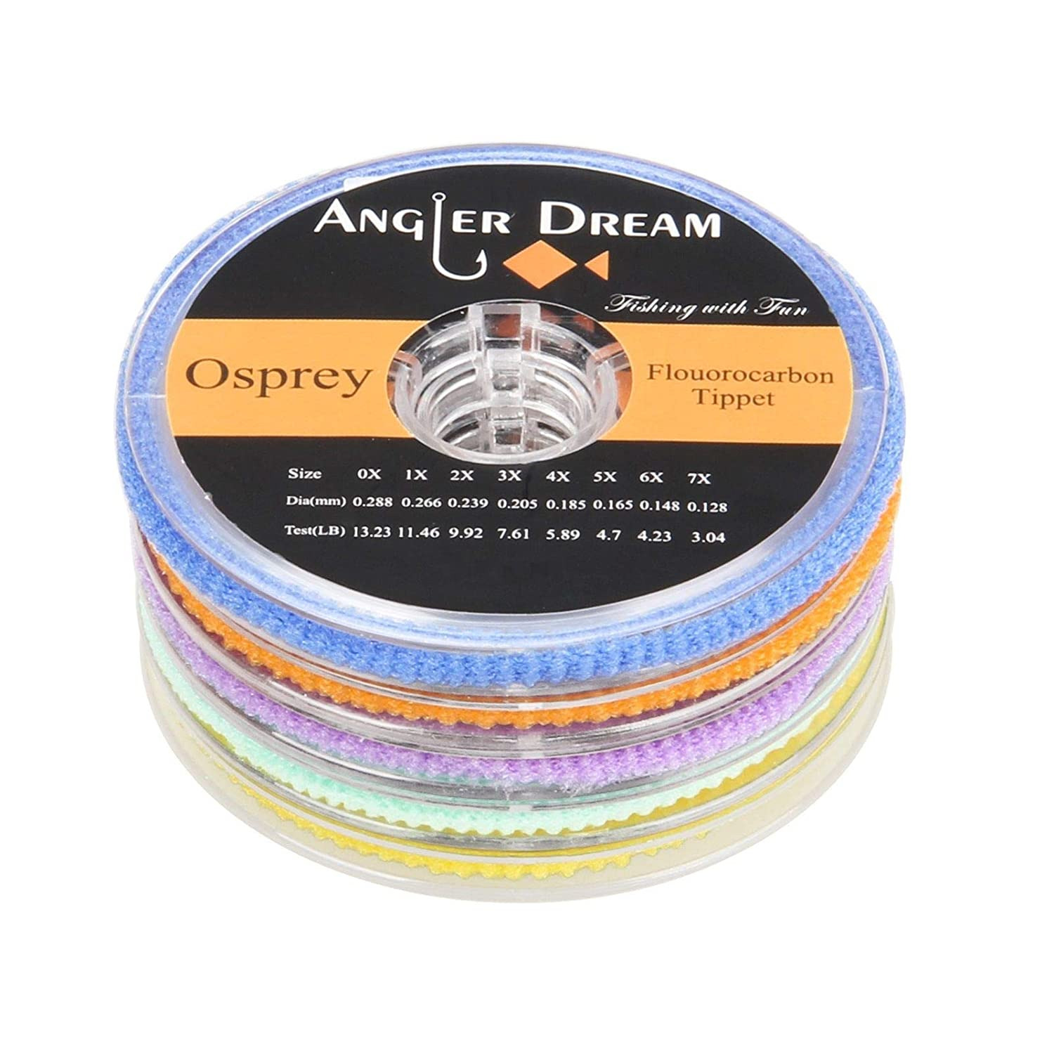 AnglerDream Fluorocarbon Tippet Fly Line 2 3 4 5 6X Fly Fishing ...