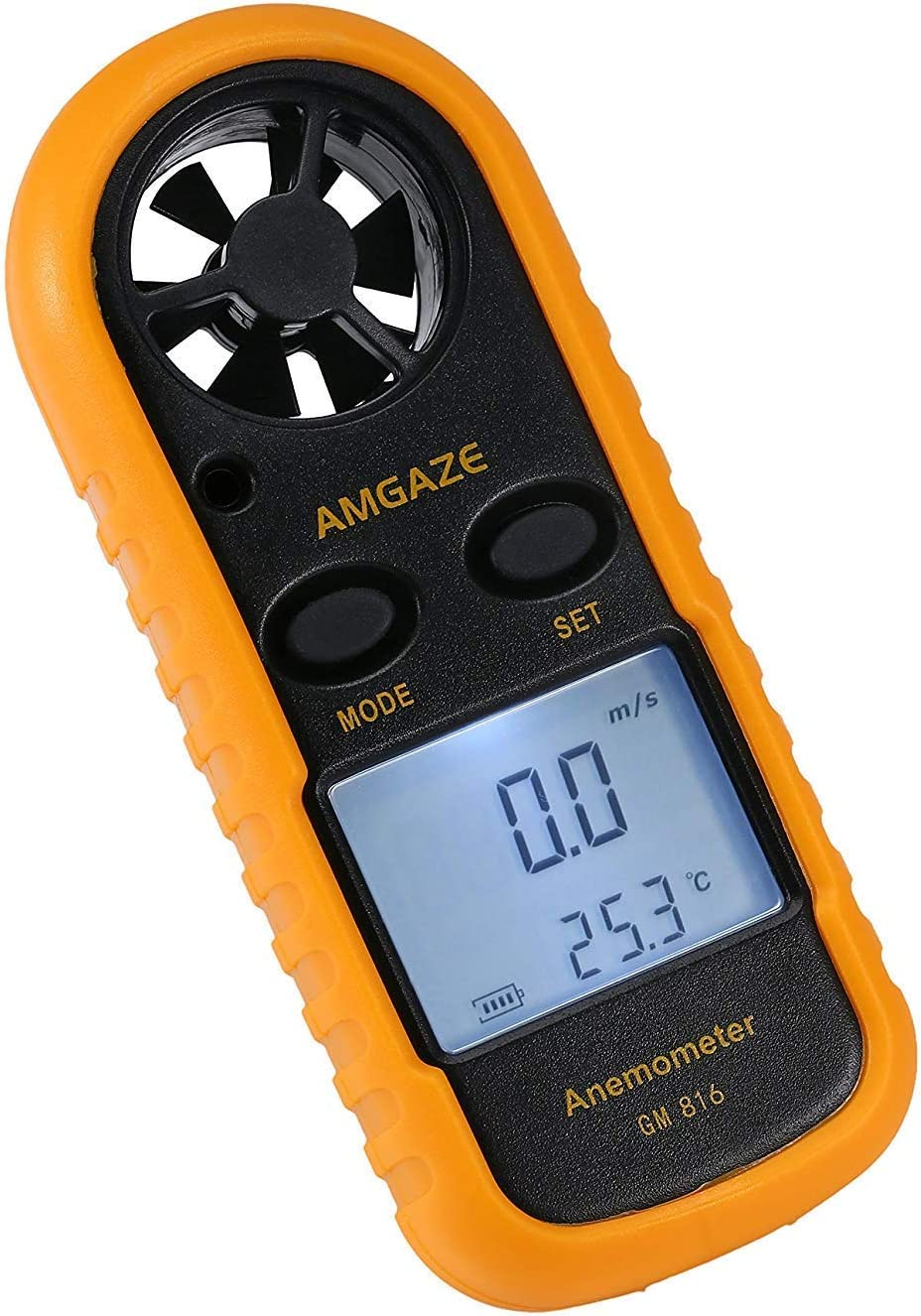 Mini LCD Wind Speed Gauge Air Geschwindigkeit Meter Anemometer NTC Thermomete