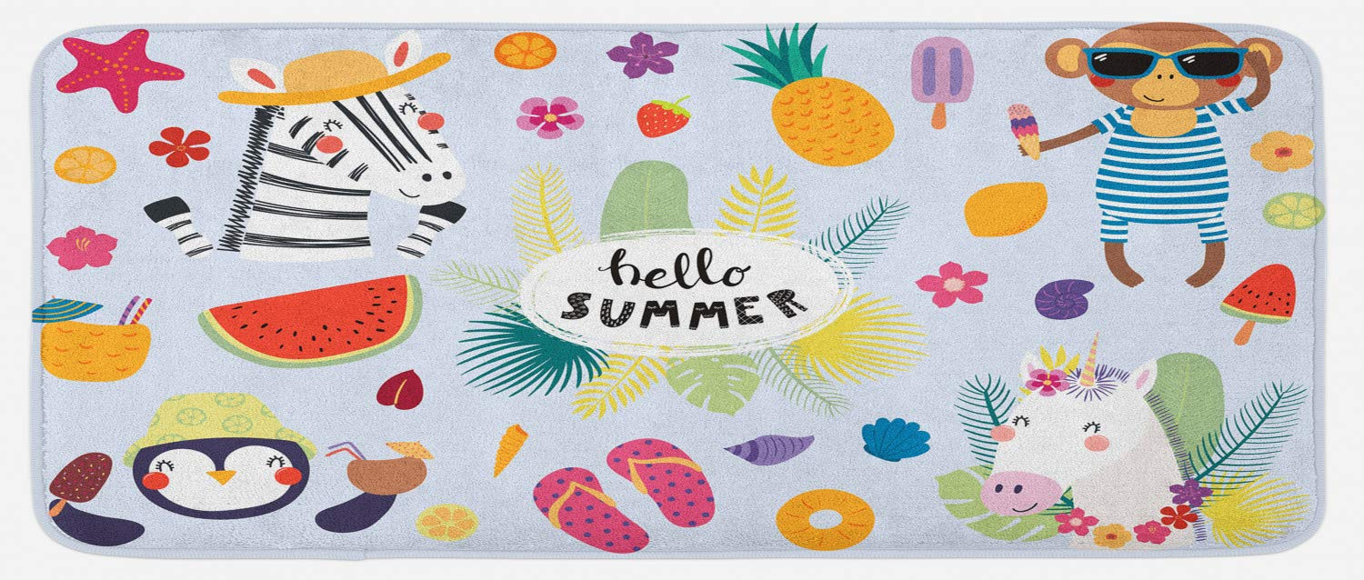 5071d2618 Amazon.com  Ambesonne Hello Summer Kitchen Mat