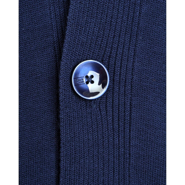 Armani Collezioni Jumper, Blue Lightweight Button Up Cardigan