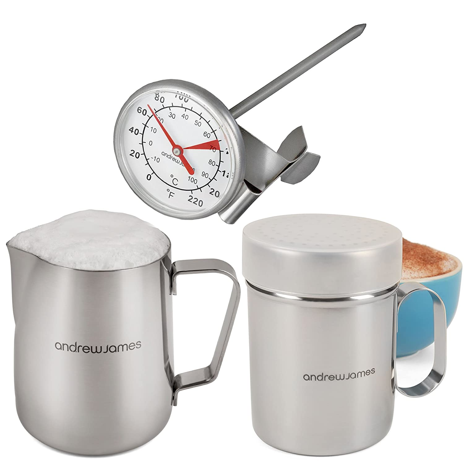 Andrew James Stainless Steel Barista Style Coffee Making Set