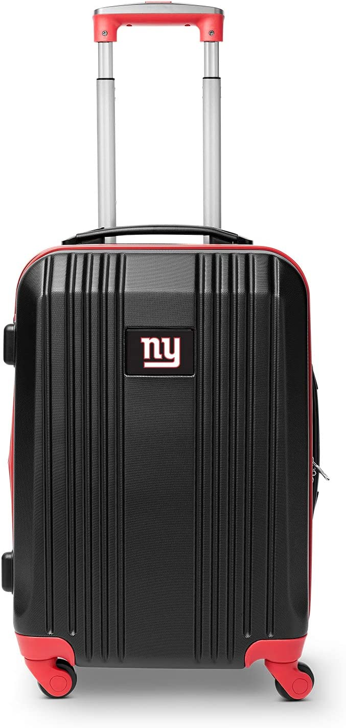 Denco NFL New York Giants Round-Tripper Two-Tone Hardcase Luggage Spinner