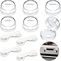 Shucom 10 Pieces Stove Knob Covers for Child Safety, 6 Baby Proof Clear Stove Knob Covers Universal Kitchen Safety…
