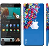 Noise OnePlus X Case/Back Cover + Free Tempered Glass, Noise Designer Premium PolyCarbonate Case Back Cover for OnePlus X [Slim fit, scratch & impact resistant MATTE finish] + Free Premium Tempered Glass (HD) - Screenguard (Apple with Baloons)