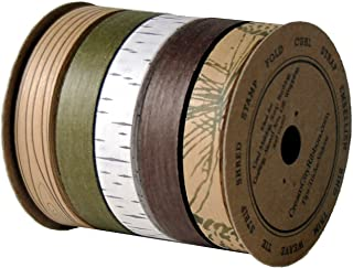 "product image for Cream City Ribbon Woodland Collection Cotton Curling/Craft Ribbon, 5 Ribbons, 1/2"" x 5 Yards (25 Total Yards, 75 Feet)"