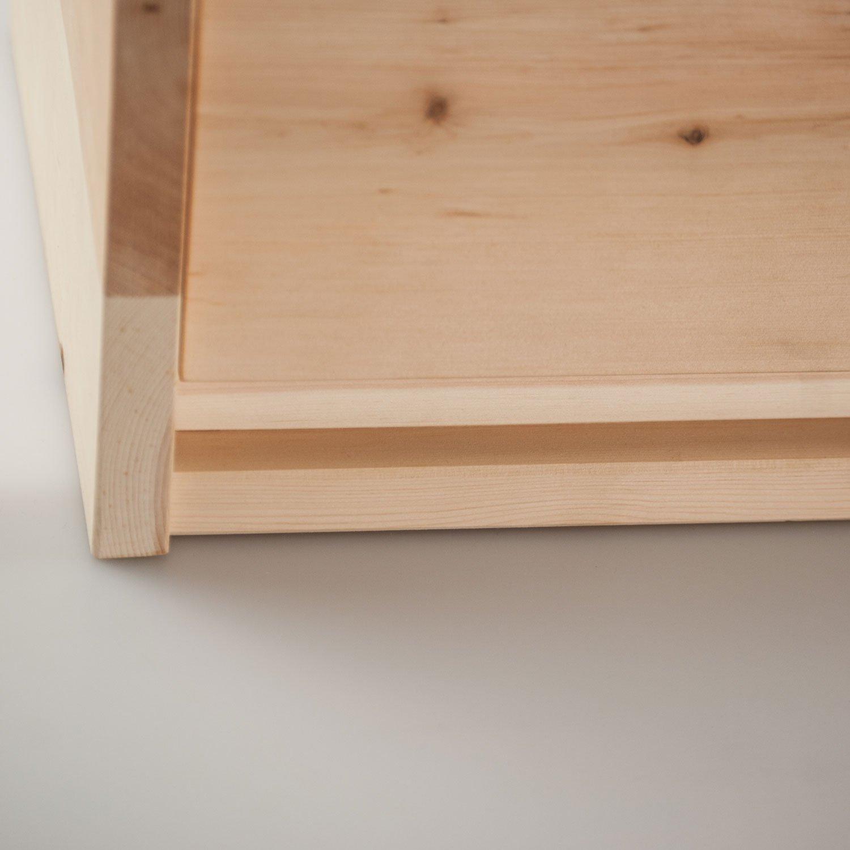 Handgemacht in /Österreich BxTxH 4betterdays Brotkasten aus Zirbe zum aufklappen 30x23x14,5 cm