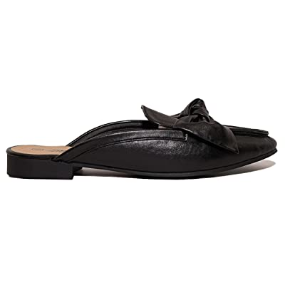 Charles Albert Women's Knotted Bow Mules Backless Slip On Loafers | Loafers & Slip-Ons