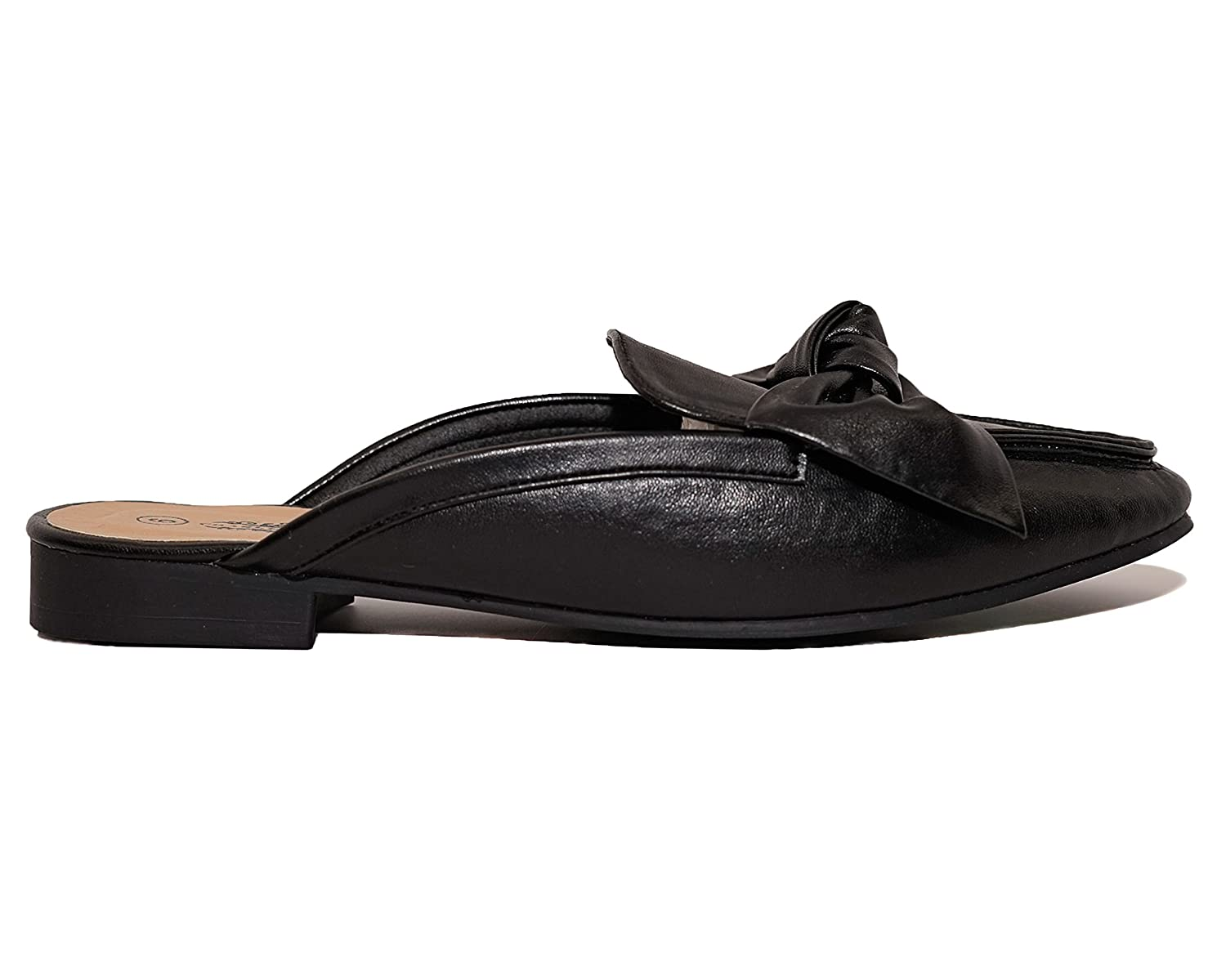 Charles Albert Women's Knotted Bow Mules Backless Slip On Loafers