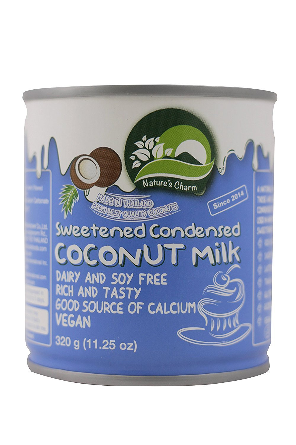 Amazon.com : Natures Charm Sweetned Condensed Coconut Milk, 11.25 Ounce. (Pack of 4) : Grocery & Gourmet Food
