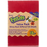Darice Felties Stiff Felt Sheets with Sticky Backs (18 Sheets) – Assorted Primary Colors – Great for Craft Projects with…