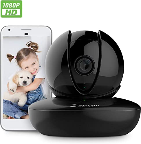 Amcrest Zencam 1080P WiFi Camera, Pet Dog Camera, Nanny Cam with Two-Way Audio, Baby Monitor with Cell Phone App, Pan Tilt Wireless Wi-Fi IP Camera, Micro SD Card, RTSP, Cloud, Night Vision, M2B Black