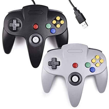 2 Pack USB N64 Controller, Ablave Classic USB Wired N64 64-bit Game pad  Joystick for N64 Emulator