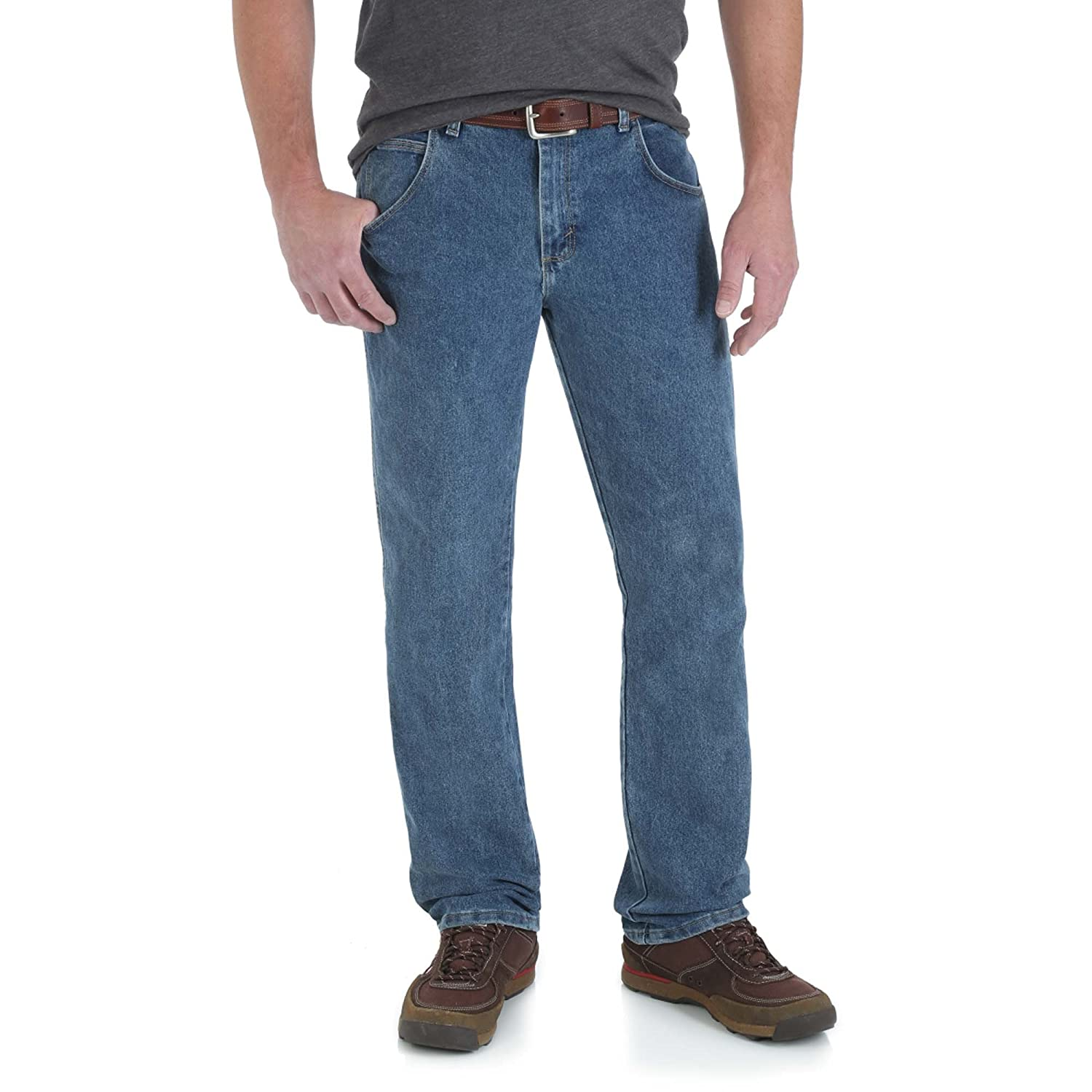 Wrangler Mens Rugged Wear Advanced-Comfort Straight-Fit Jean