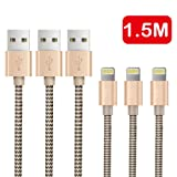 Amazon Price History for:OTISA 3Pack 5Ft Nylon Braided Lightning Cable with Ultra-compact Connector Charging Cord Charger for iPhone 7/7 Plus/6s/6s Plus/6/6 Plus/5s/55se, iPad,iPod Compatible with iOS10