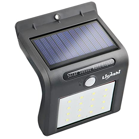 Licwshi Solar Lights 16 LED inalámbrico sensor de movimiento de agua al aire libre para patio