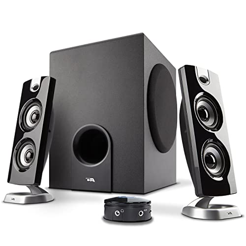 Cyber Acoustics 2.1 Speaker Sound System with Subwoofer and Control Pod - Great for Music, Movies, Multimedia PCs, Macs, Laptops and Gaming Systems (CA-3602)