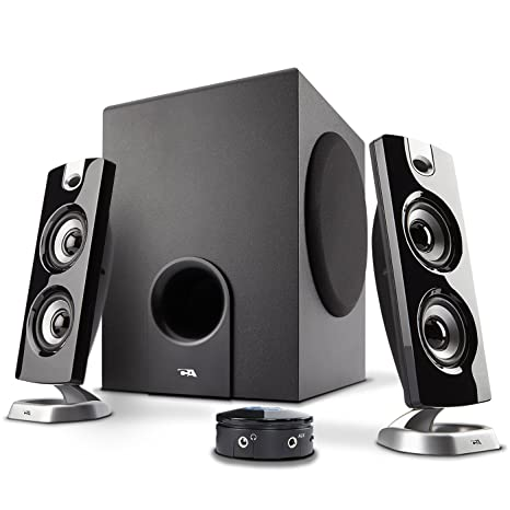 b493b0ed903 Cyber Acoustics CA-3602FFP 2.1 Speaker Sound System with Subwoofer and  Control Pod - Great