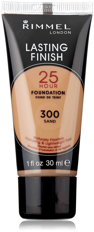 Amazon.com : Rimmel Lasting Finish 25 Hour Liquid Foundation 300 Sand, 1 fl. oz : Foundation Makeup : Beauty