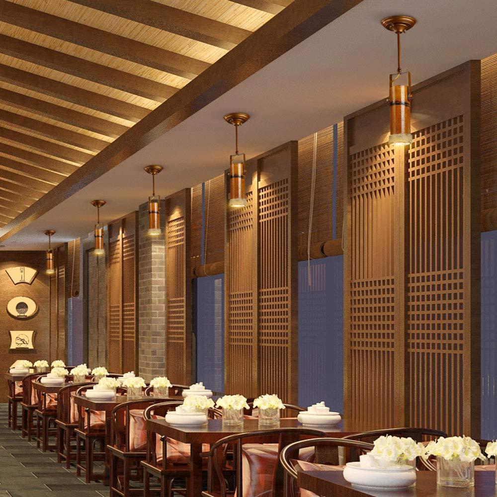 ZJⓇ Spotlight Track Light - Personality Creative Hemp Rope Bamboo Downlight Retro Hotel LED Lamp Long Rod Light - 5 Models - New Chandelier && (Size : 1) by ZJⓇ Spotlight (Image #8)