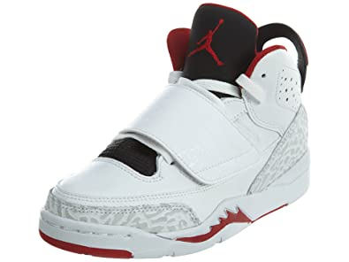outlet store b5791 c467e Jordan Son of BP Boys Basketball-Shoes 512247-112 1Y - White Gym RED