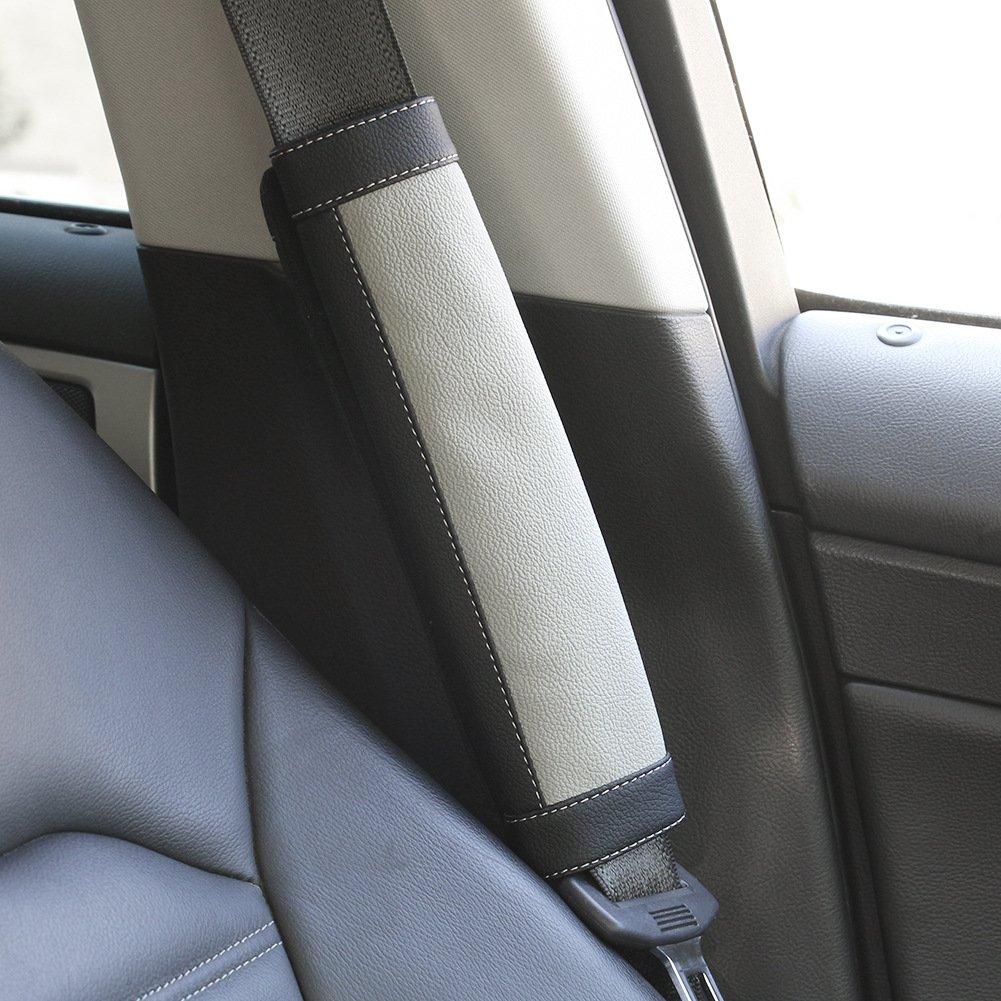 SEG Direct Black and Beige Seat Belt Pads Pack of 2