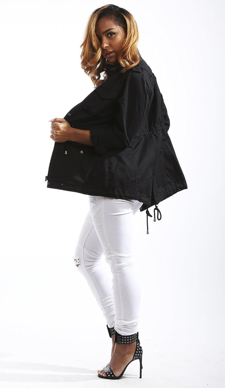 Soho Babe Juniors Light Weight Twill Fishtail Military Jacket