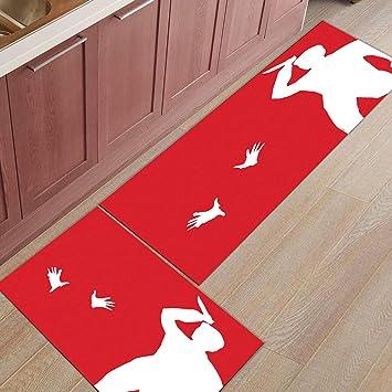 Amazon Com Kitchen Rugs Sets 2 Piece Kitchen Floor Mats Non Slip
