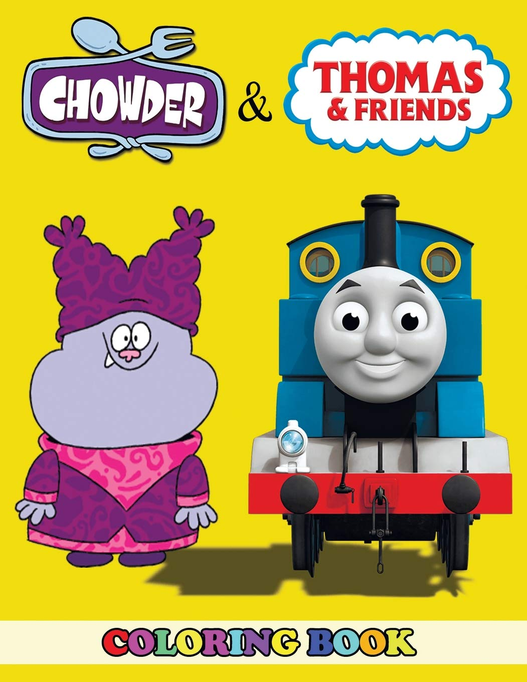Amazon.com: Chowder and Thomas the Train Coloring Book: 2 in ...